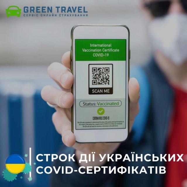 Срок действия украинских COVID-сертификатов